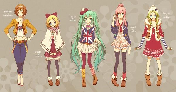 Tags: Anime, Shivue, VOCALOID, Kagamine Rin, MEIKO (VOCALOID), Hatsune Miku, GUMI