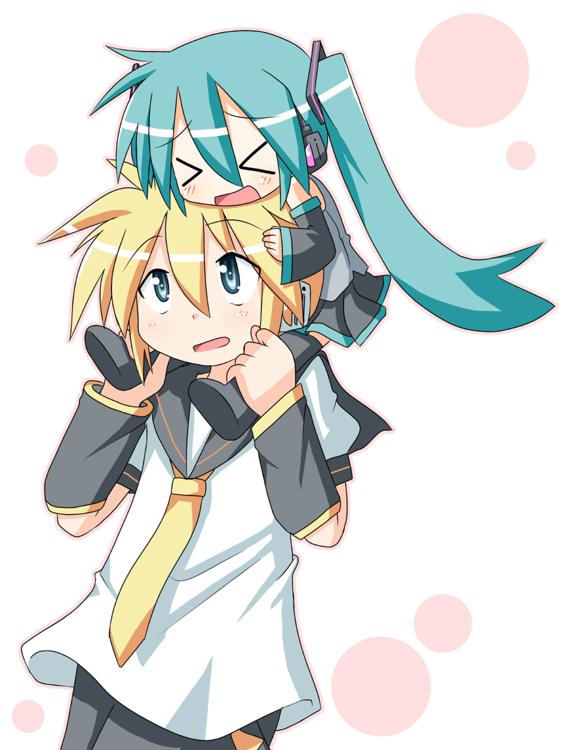 Tags: Anime, VOCALOID, Kagamine Len, Hatsune Miku