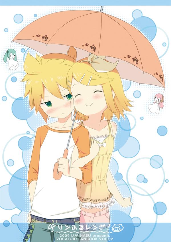 Tags: Anime, Tukinan, VOCALOID, Hatsune Miku, Megurine Luka, Kagamine Len, Kagamine Rin, Pixiv, Kagamine Mirrors