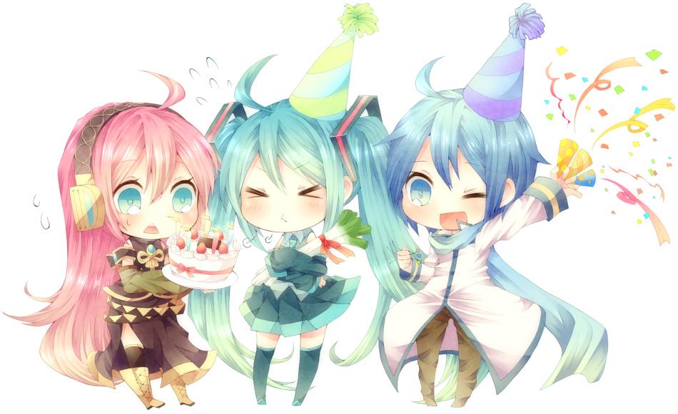 Поздравление с днем рождения в картинках аниме