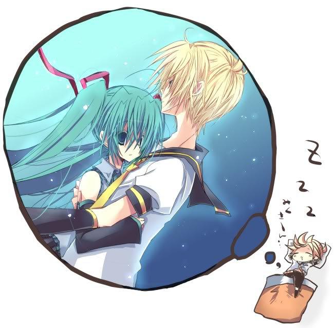 Tags: Anime, Mashiro Pima, VOCALOID, Hatsune Miku, Kagamine Len, Dreaming, Zzz, Fanart, LenMiku