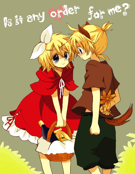 Tags: Anime, An (Pixiv1170947), VOCALOID, Big Bad Wolf (Cosplay), Red Riding Hood (Cosplay), The Wolf that Fell in Love with Red Riding Hood, Kagamine Mirrors