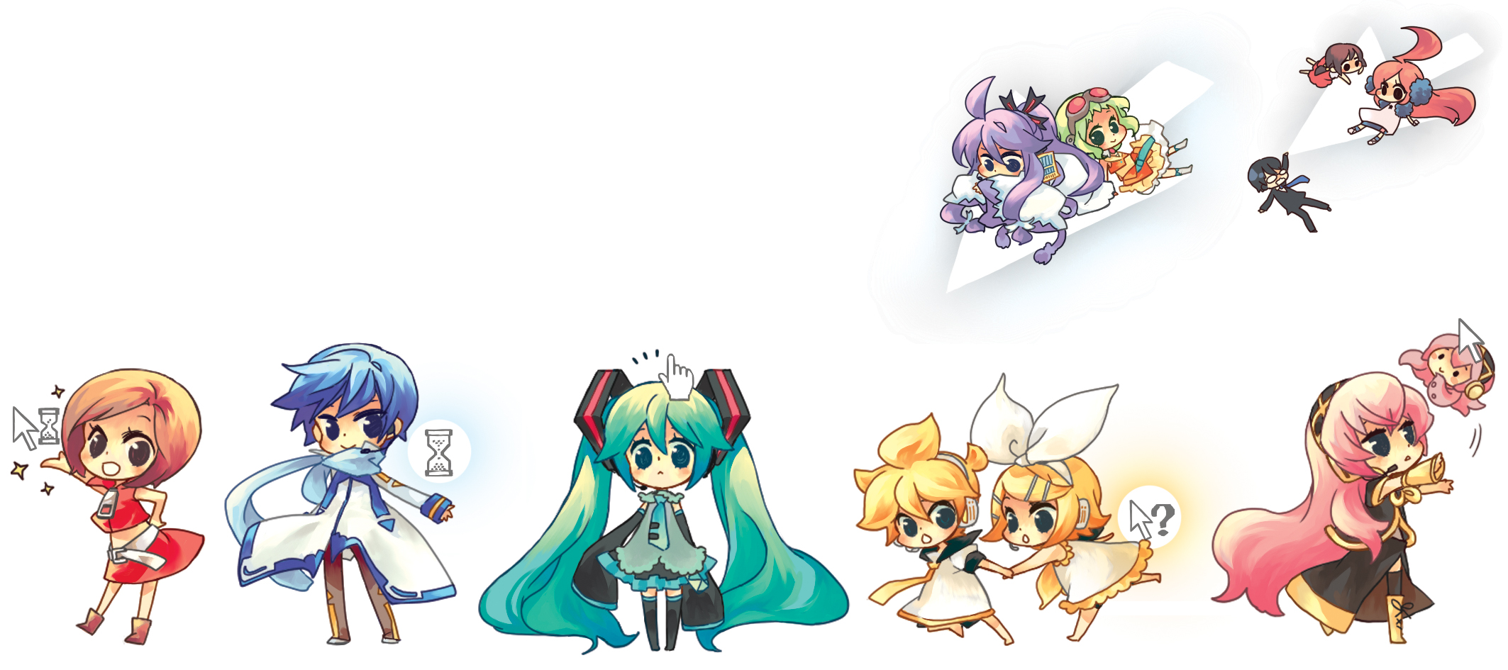 Vocaloid Chibi Group Wallpaper VOCALOID Image #141211...
