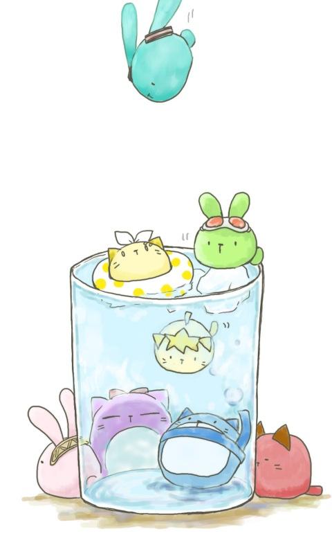 Tags: Anime, Buchiko, VOCALOID, KAITO, GUMI, Kagamine Len, Kamui Gakupo, Kagamine Rin, MEIKO (VOCALOID), Megurine Luka, Hatsune Miku, Swimming, Mobile Wallpaper