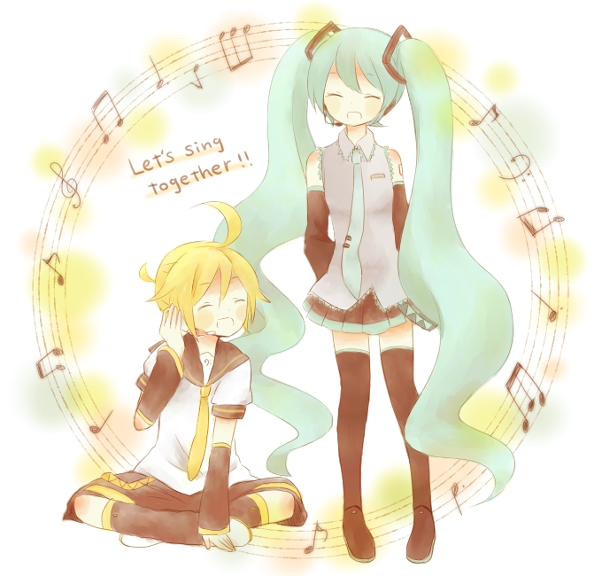 Tags: Anime, Hiyori (Pixiv2404556), VOCALOID, Kagamine Len, Hatsune Miku