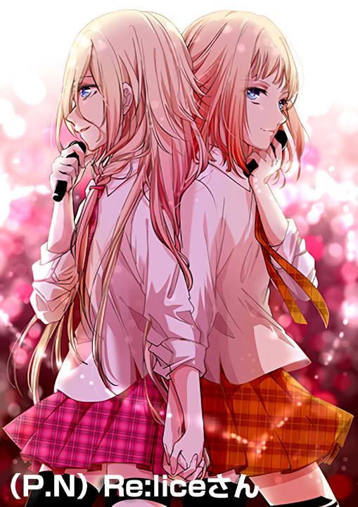 Tags: Anime, Pixiv Id 4967401, VOCALOID, ONE (CeVIO), IA, Orange Neckwear, Orange Skirt, Fanart, Mobile Wallpaper