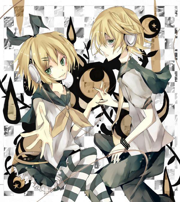 Tags: Anime, VOCALOID, Kagamine Len, Kagamine Rin, Kagamine Mirrors