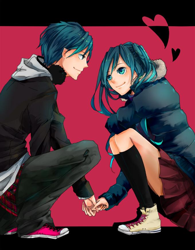 Tags: Anime, Pixiv Id 137812, VOCALOID, Hatsune Miku, Hatsune Mikuo