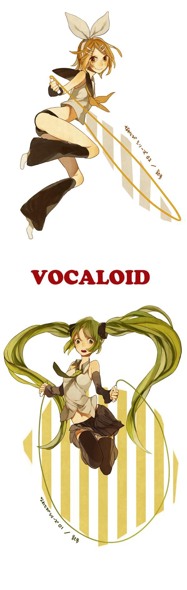 Tags: Anime, VOCALOID, Kagamine Rin, Hatsune Miku, Jump Rope