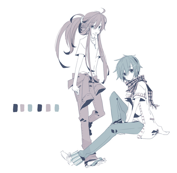 Tags: Anime, Yoshiki / 由杞, VOCALOID, Kamui Gakupo, KAITO