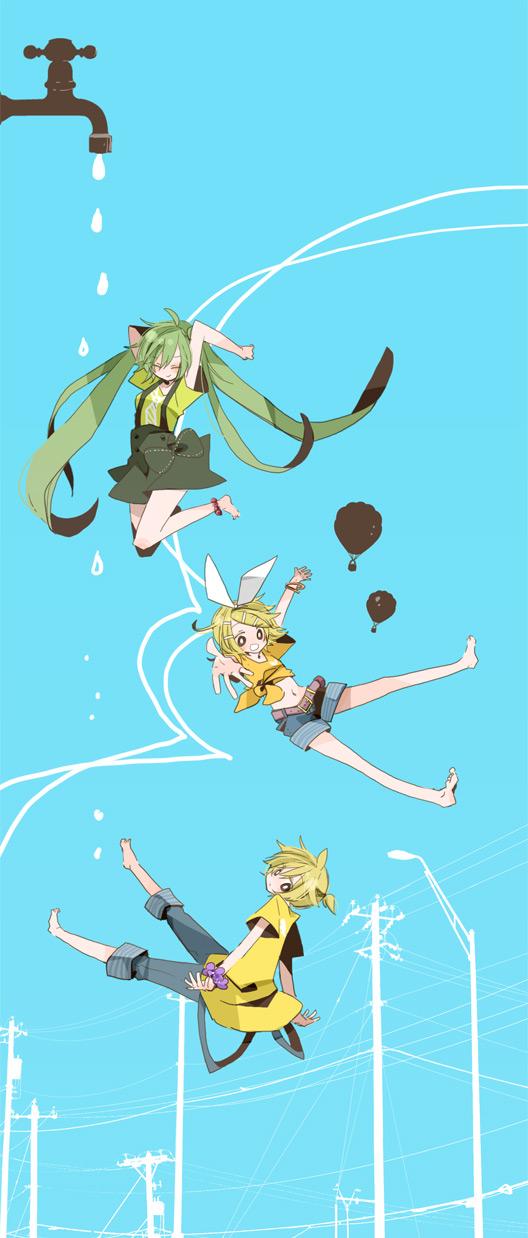 Tags: Anime, Yoshiki / 由杞, VOCALOID, Hatsune Miku, Kagamine Len, Kagamine Rin