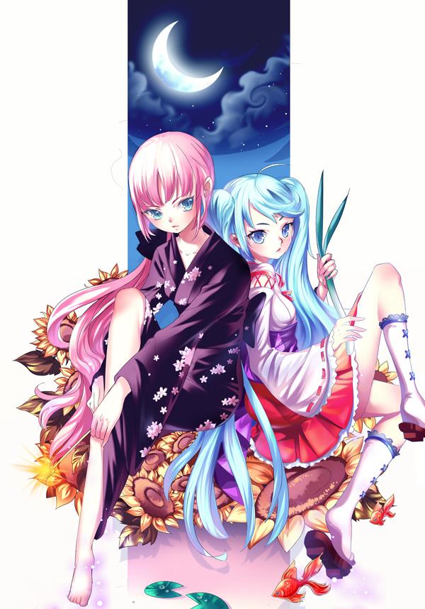 Tags: Anime, Pixiv Id 304810, VOCALOID, Hatsune Miku, Megurine Luka