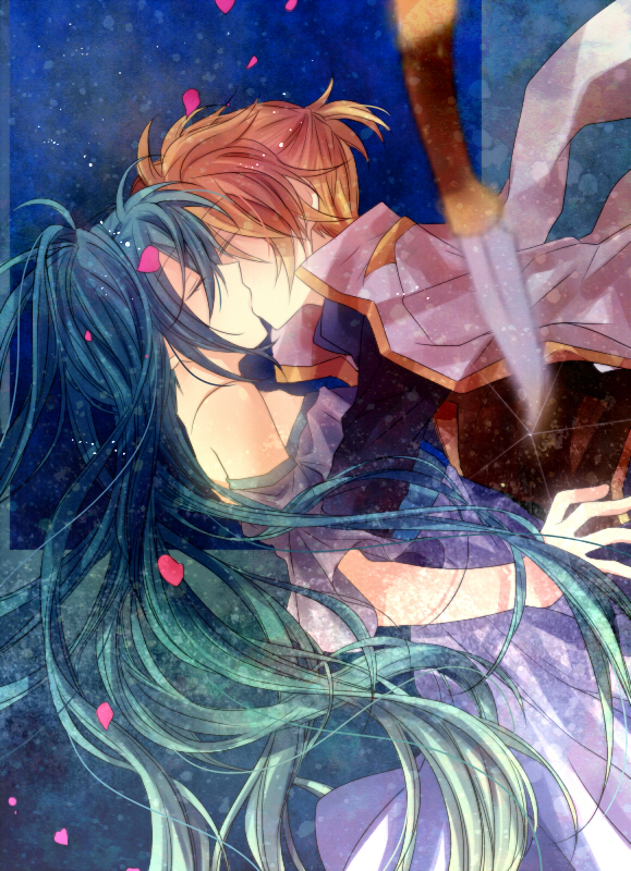 Tags: Anime, Akatsuki (4941086), VOCALOID, Hatsune Miku, Kagamine Len, Mobile Wallpaper, Fanart, Pixiv, LenMiku