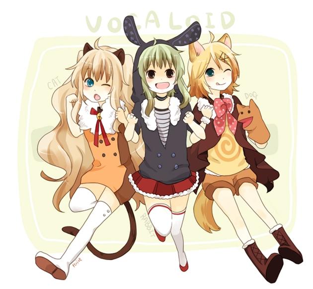 Tags: Anime, VOCALOID, Kagamine Rin, SeeU, GUMI
