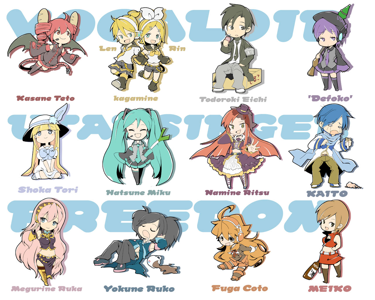 Anime Characters Names : Anime vocaloid characters names pixshark