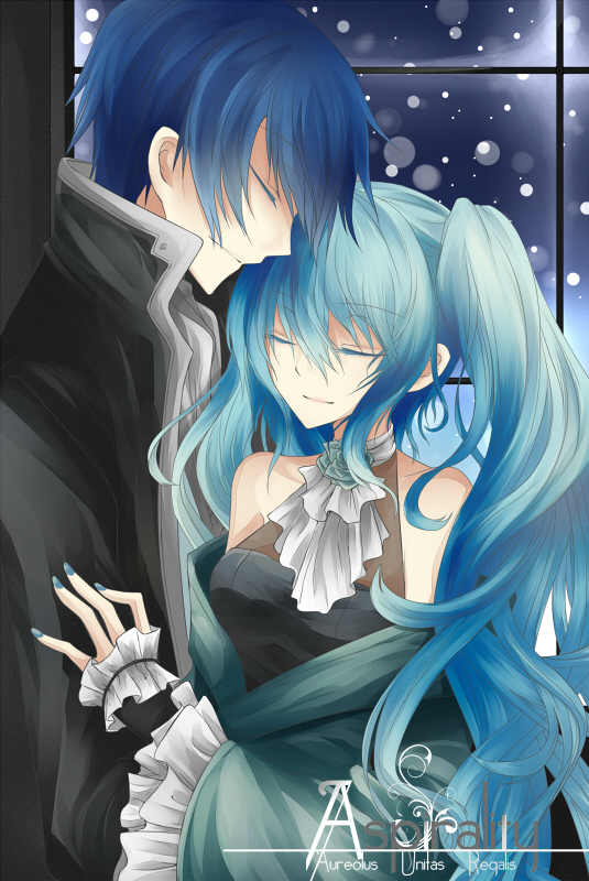Tags: Anime, R-ena, VOCALOID, KAITO, Hatsune Miku, deviantART, Mobile Wallpaper, Fanart From DeviantART, Cantarella (Song), Fanart, KaiMiku