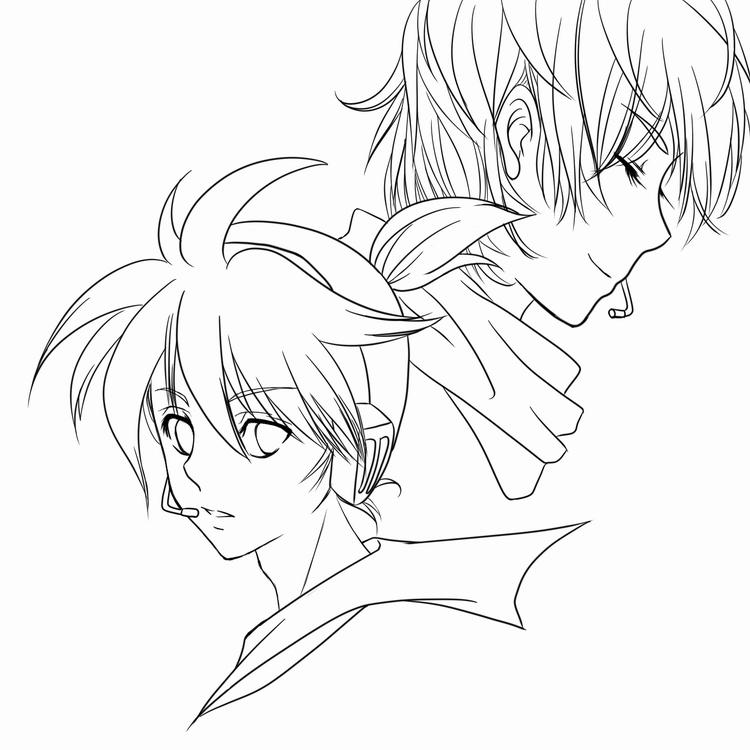 Zerochan Lineart : Vocaloid zerochan