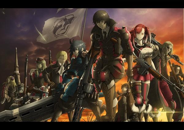Tags: Anime, Sega, Valkyria Chronicles 3, Kurt Irving, Imca, Riela Marcellis, Alfons Auclair