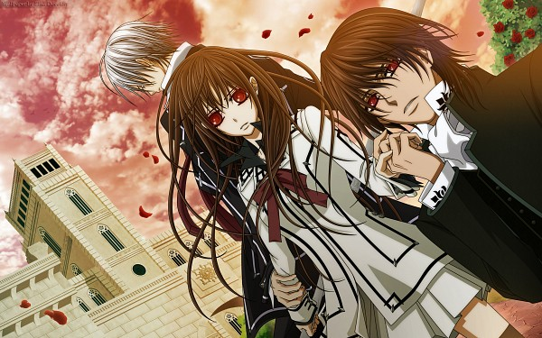 Tags: Anime, Vampire Knight, Yuki Cross, Kiryuu Zero, Kuran Kaname, Widescreen 16:10 Ratio, Flowing Hair