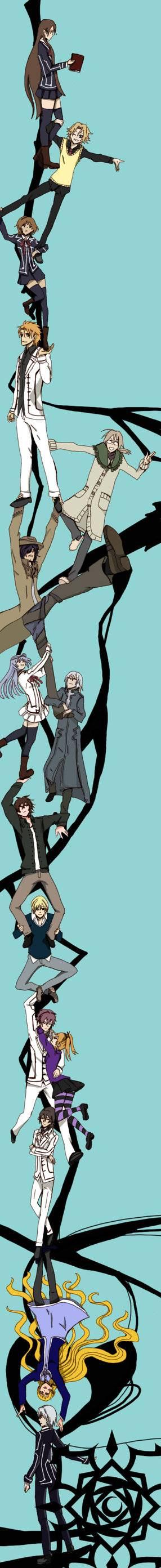 Tags: Anime, Vampire Knight, Shirabuki Sara, Ichijou Takuma, Kurenai Maria, Kaien Cross, Yuki Cross, Kiryuu Ichiru, Aidou Hanabusa, Kiryuu Zero, Toga Yagari, Takamiya Kaito, Shiki Senri