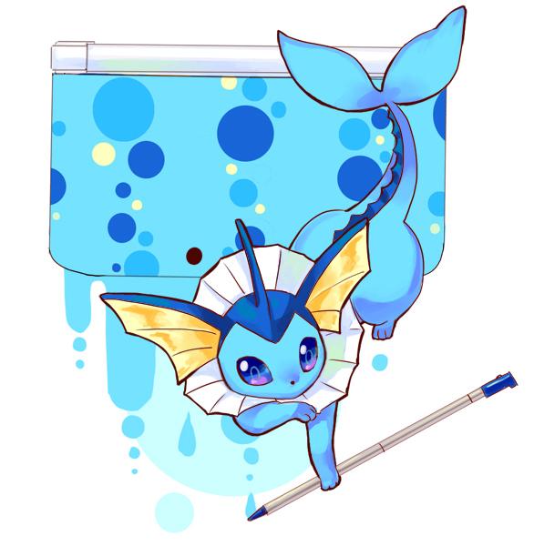 Tags: Anime, Rikovui, Pokémon, Vaporeon, Nintendo 3DS, Fanart, Fanart From Pixiv, Pixiv