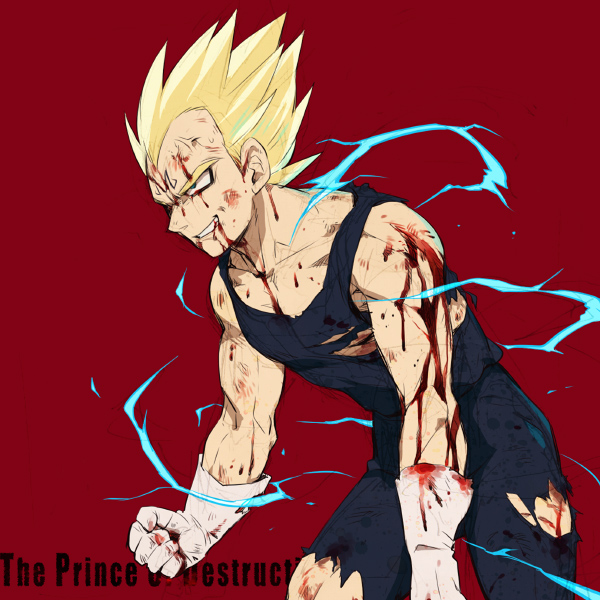 Tags: Anime, Ttk (Ehohmaki), DRAGON BALL, DRAGON BALL Z, Vegeta, Fanart, Pixiv, Super Saiyan
