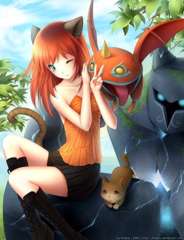 Tags: Anime, Hitana, Perfect World, Venomancer, Golem, deviantART, Original