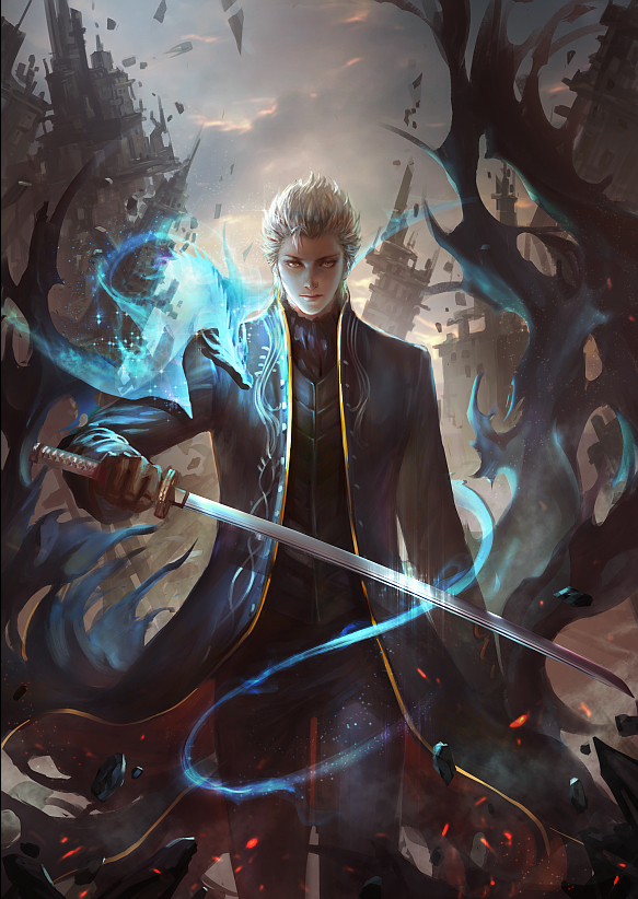 Tags: Anime, Pixiv Id 1417939, Devil May Cry, Vergil (Devil May Cry), Pixiv, Mobile Wallpaper, Fanart From Pixiv, Fanart