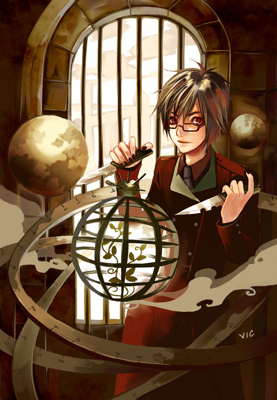 Tags: Anime, redjuice, Vic-mon, Inside (redjuice), Bars, Globe, Original