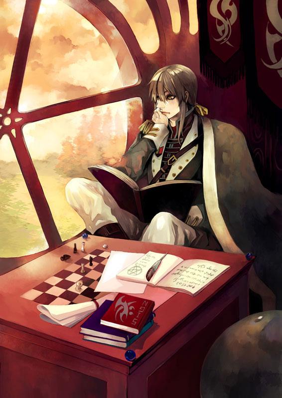 Tags: Anime, Vic-mon, Round Window, Chess, Original