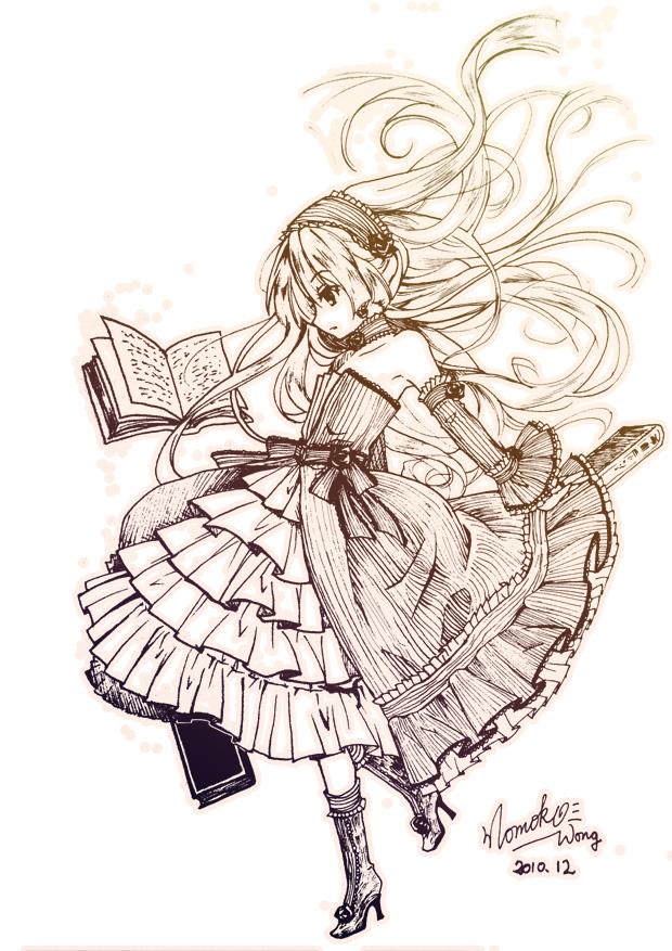 Tags: Anime, Momoko (Artist), GOSICK, Victorique de Blois, Spellbook, Mobile Wallpaper