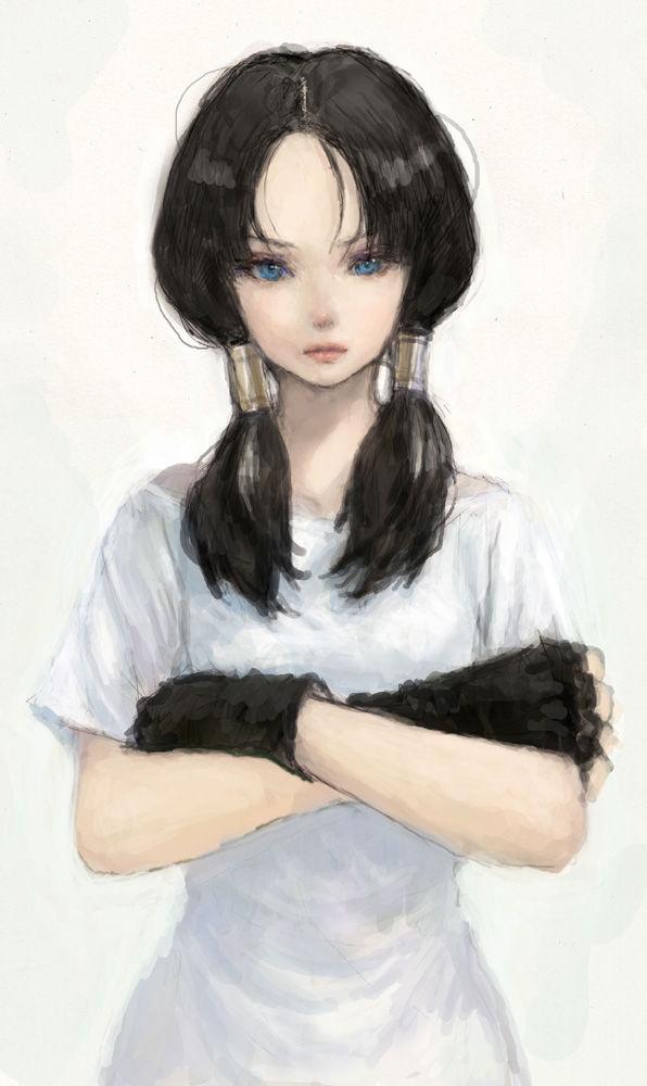 Tags: Anime, Pon (Pixiv154444), DRAGON BALL, DRAGON BALL Z, Videl, Mobile Wallpaper