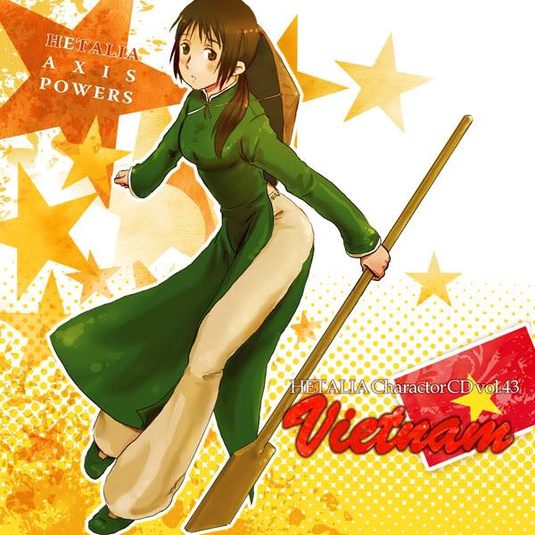 Tags: Anime, Axis Powers: Hetalia, Vietnam, Vietnamese Clothes, Aodai, Fanart, Pixiv