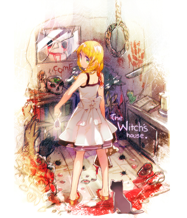 Tags: Anime, Namie-kun, Majo no Ie, The Black Cat (Majo no Ie), Viola (Majo no Ie), Fragments, Broken Glass, 600x700 Wallpaper, Tumblr
