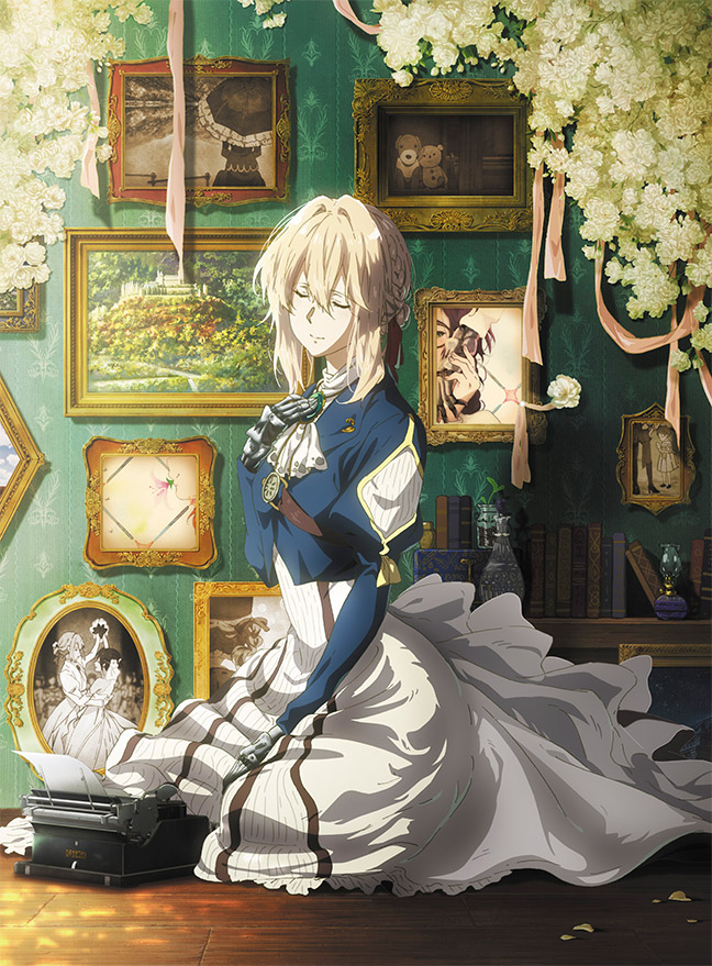 Tags: Anime, Takase Akiko, Kyoto Animation, Violet Evergarden Gaiden, Violet Evergarden, Violet Evergarden (Character), Amy Bartlett, Typewriter, Prosthesis, Mechanical Arm, Official Art, DVD (Source)