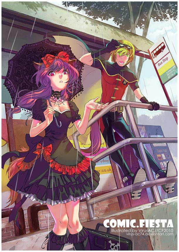 Tags: Anime, Virus Ac74, Bus Stop, deviantART, Pixiv