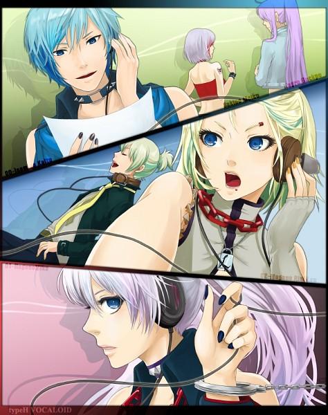 Tags: Anime, Momopanda, Vocaloid, Magane Rin, Kagura Gakupo, Hagane Miku, KAITO