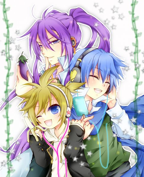 Tags: Anime, Pixiv Id 2219276, Vocaloid, KAITO, Kagamine Len, Kamui Gakupo, Banana