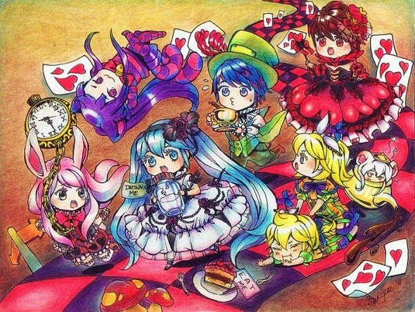 Tags: Anime, Hatsune Miku, Alice In Wonderland, Vocaloid, Kagamine Rin