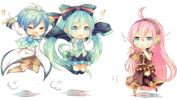 Tags: Anime, Niwako, Vocaloid, Hatsune Miku, Megurine Luka, KAITO, :3