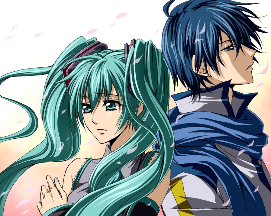 Anime Vocaloid Kaito And HatsuneVocaloid Kiaito