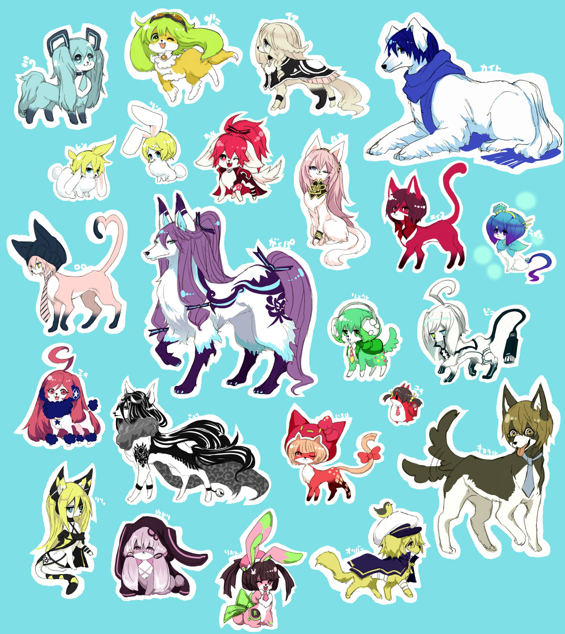 Anime Characters Animals : Mew vocaloid zerochan anime image board