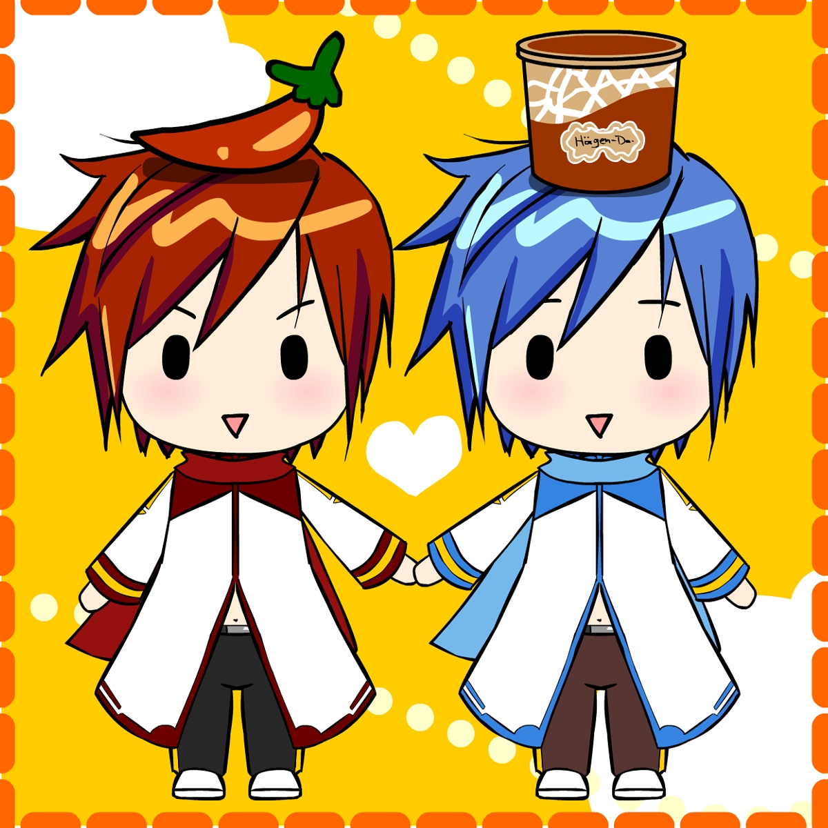 Displaying 18 gt  Images For - Vocaloid Kaito Chibi Ice Cream   Akaito Chibi