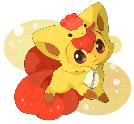 Tags: Anime, Mitiruni, Pokémon, Vulpix, Pokémon (Cosplay), Vulpix (Cosplay), Fanart, PNG Conversion, Pixiv, Fanart From Pixiv
