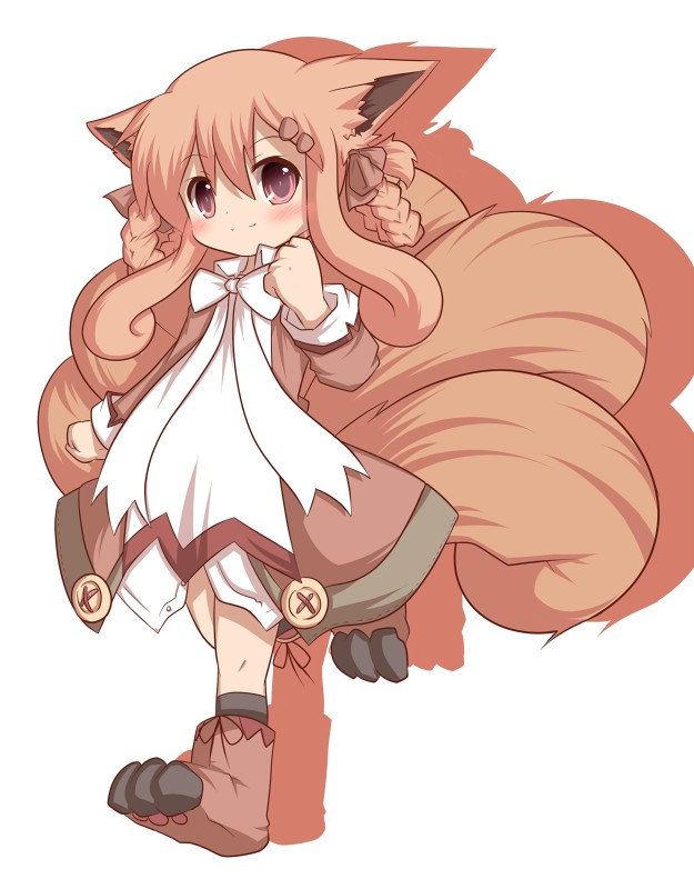 Tags: Anime, Nijiirosekai, Pokémon, Vulpix, Little Girl, Kitsunemimi, Moemon