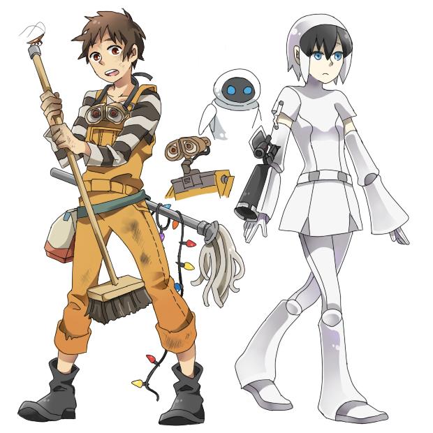 Tags: Anime, Pixiv Id 2215797, WALL-E, WALL-E (Character), EVE (WALL-E), Pixar, Disney