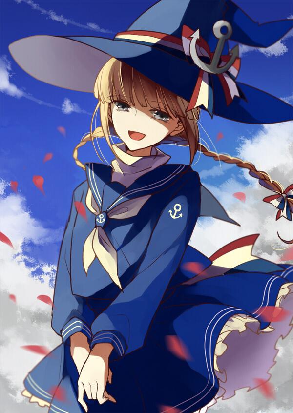 Tags: Anime, Pixiv Id 254652, Oounabara to Wadanohara, Wadanohara, Anchor, Mobile Wallpaper