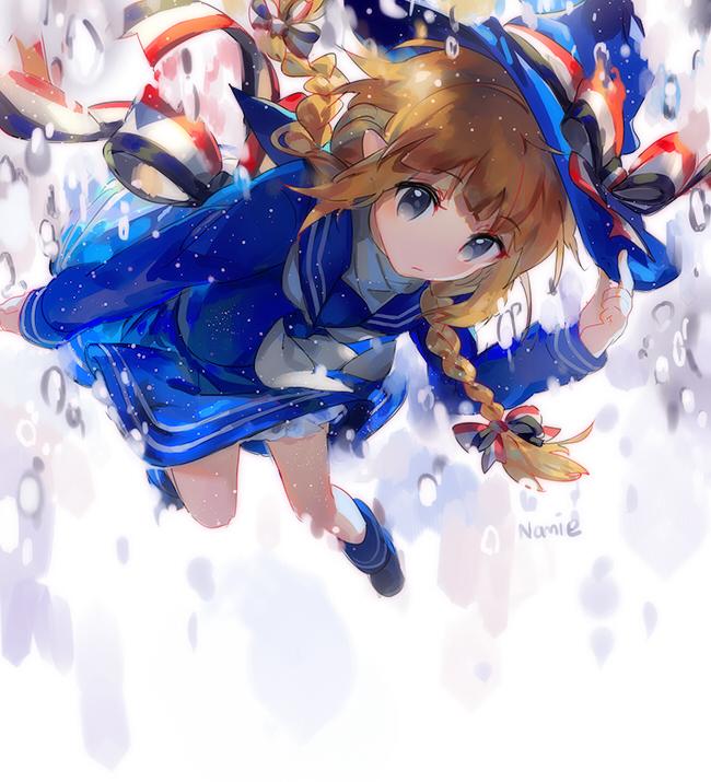 Tags: Anime, Namie-kun, Oounabara to Wadanohara, Wadanohara, Fanart, Twitter, PNG Conversion