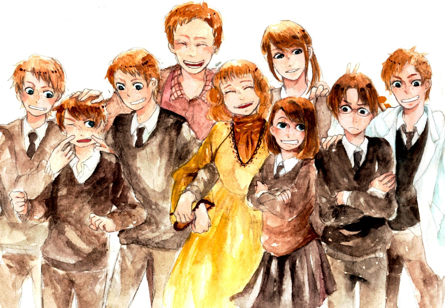 Weasley Family - Harry Potter - Image #712156 - Zerochan ... Weasley Family Anime