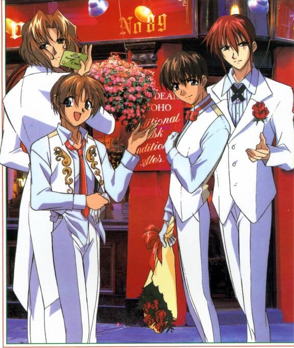 Tags: Anime, Weiss Kreuz, Kudou Youji, Tsukiyono Omi, Fujimiya Ran, Hidaka Ken, Official Art
